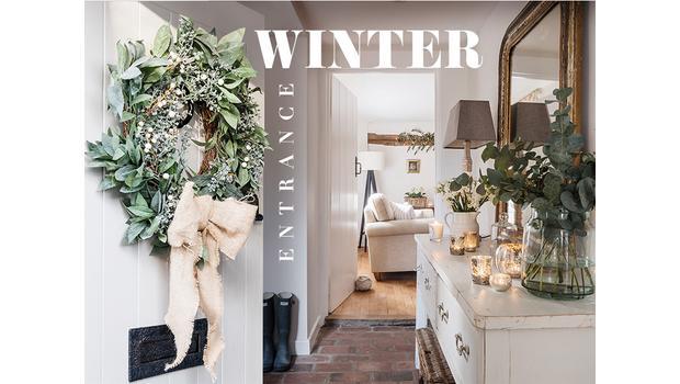 Winter entrance tover je entree om tot een stylish winter wonderland
