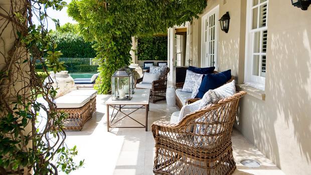 Feest op de veranda
