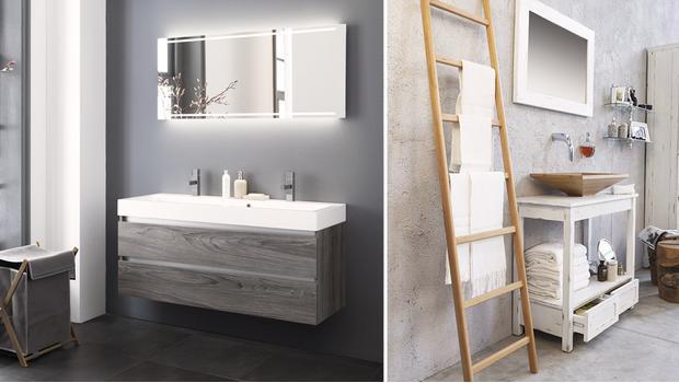 Salle de bain classique, meubles