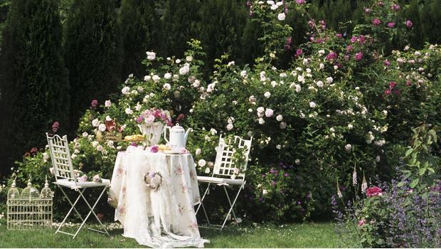 Een paradijselijke patio
