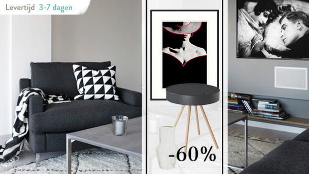 Wonen In Wit : Wonen in zwart wit van fotoprint tot fauteuil westwing