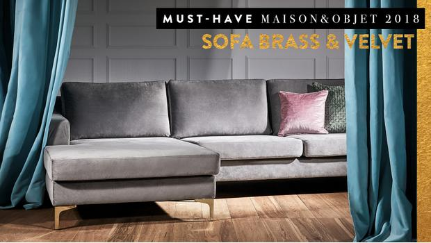 Must-have: Sofa brass & velvet