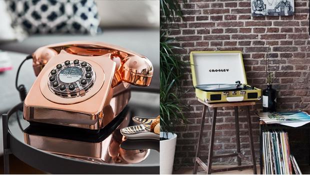 Gramofony i telefony vintage