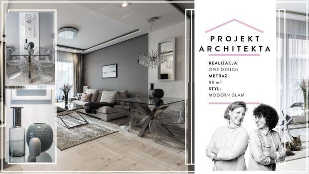 Mieszkanie w stylu modern glam