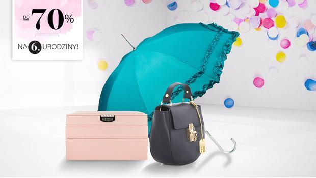 Torebki, parasolki, biżuteria