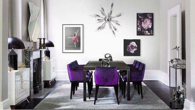 Szyk w odcieniach fioletu