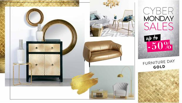 Gold: kolekcja mebli