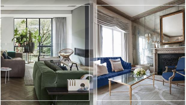 Elegant green vs Calming blue
