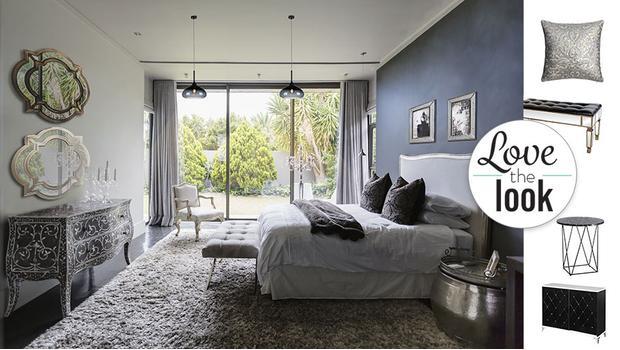Sypialnia w stylu dark glamour