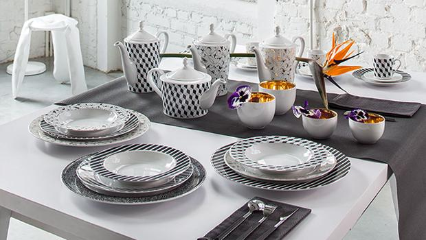 Ćmielów (porcelana: talerze, filiżanki, dzbanki) W41 GL