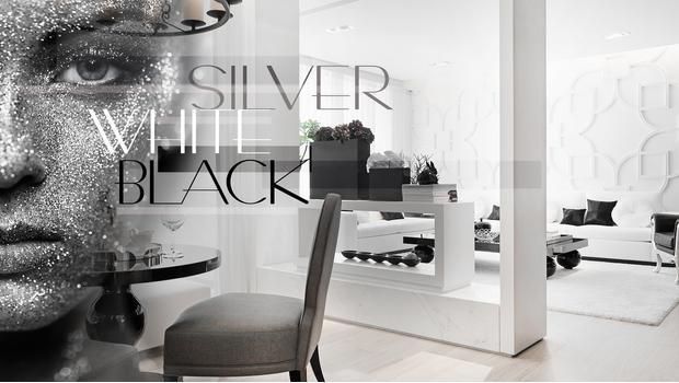 Silver, White, Black