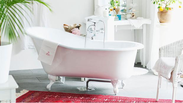 Buduarowy salon kąpielowy