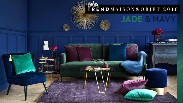 Color trend: Jade & Navy
