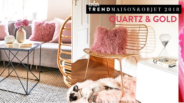 Color trend: Quartz & Gold