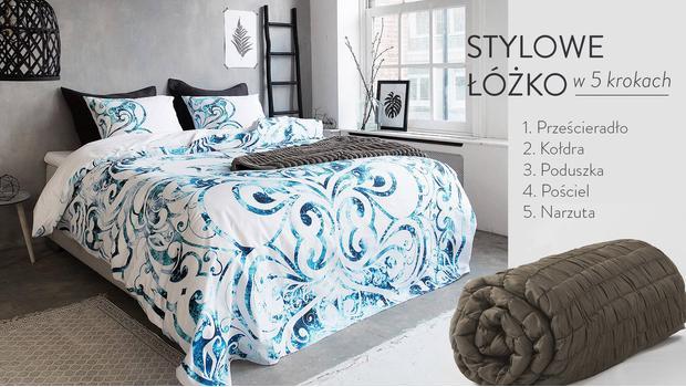 Stylowe łóżko