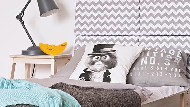 Sypialnia w dwóch stylach