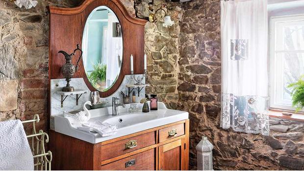 Rustykalna łazienka