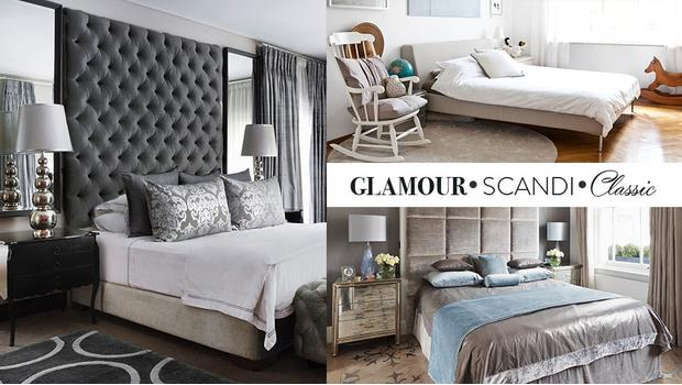 Sypialnia w 3 stylach