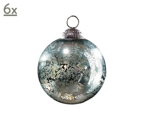 Bonbonfarben f r den baum schmuck mit vintage charme for Weihnachtskugeln glas grau