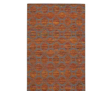 Design teppich patchwork floral terracotta grau dunord online