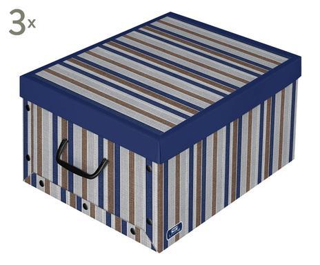Perfekt ... Aufbewahrungsboxen Nadine, 3 Stück, Braun/grau/blau, B 50 Cm  Verfügbarkeit Prüfen Aufbewahrungsboxen ...
