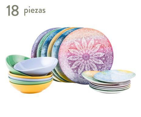 Villa d este mesas con color westwing - Vajilla 18 piezas ...