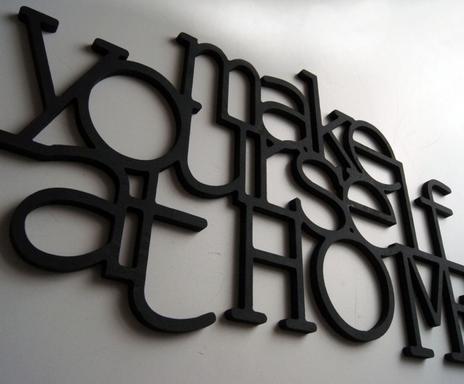palabras decorativas make yourself at home u pequea consultar