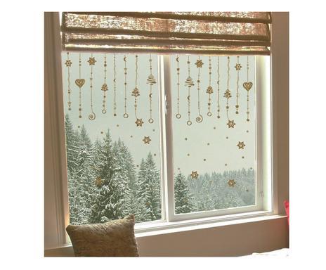 Sogno a parete adesivi natalizi westwing for Finestra 70x100