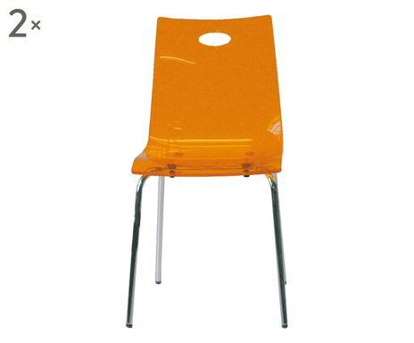 Ambizioni living sedie e tavoli westwing for Sedie arancioni