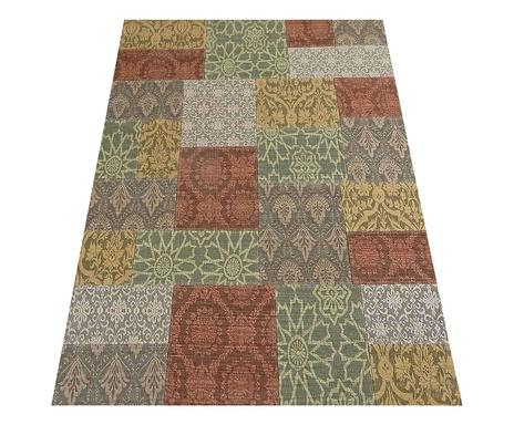 Excellent tappeto patchwork in misto lana cotone dorica - Tappeti turchi vintage ...