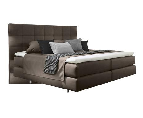Boxspringbedden luxe comfort westwing home living - Fluwelen hoofdeinde taupe ...