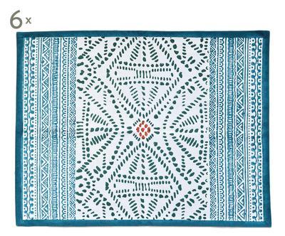 6 Sets de table TIWI, coton - 34*45