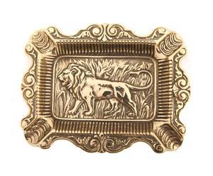 Пепельница - латунь - золотой, 16х12