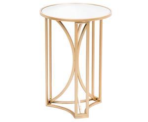 Стол - металл - золотой, 40,5х40,5х58 см