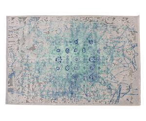 Tappeto in misto seta Antigua azzurro, 235x160 cm
