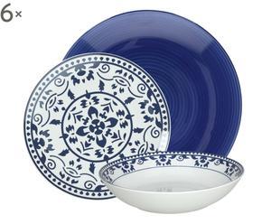 Servizio di piatti in porcellana Gypsy, 18 pz