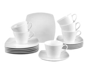Servizio caffe'/dolce in porcellana Simply Fresh, 18 pz