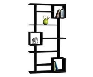 Libreria in nobilitato con 9 scomparti Soto nero