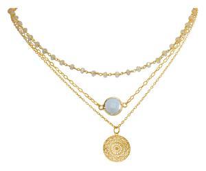 Vergoldete Choker-Halskette Mandala