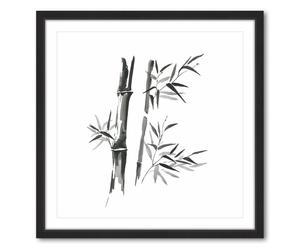 Gerahmtes Bild Bamboo Leaves, 41 x 41 cm