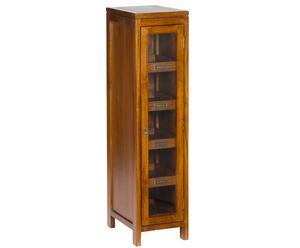Шкаф-витрина - акация, 120х40х30 см