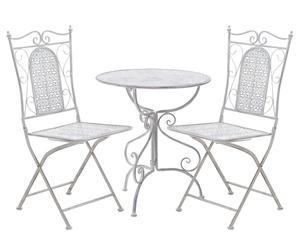Садовый стол и 2 стула - металл