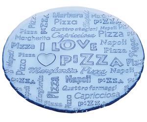 Блюдо I LOVE PIZZA - стекло, Ø32 см