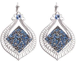 Серьги - кристаллы Swarovski
