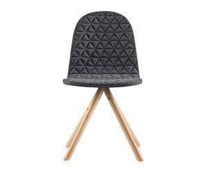 """Krzesło """"Mannequin 01 Natural Dark Gray II"""", 40 x 43 x 79 cm"""