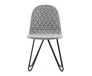 """Krzesło """"Mannequin 03 9005 Szary Gray II"""", 40 x 43 x 81 cm"""