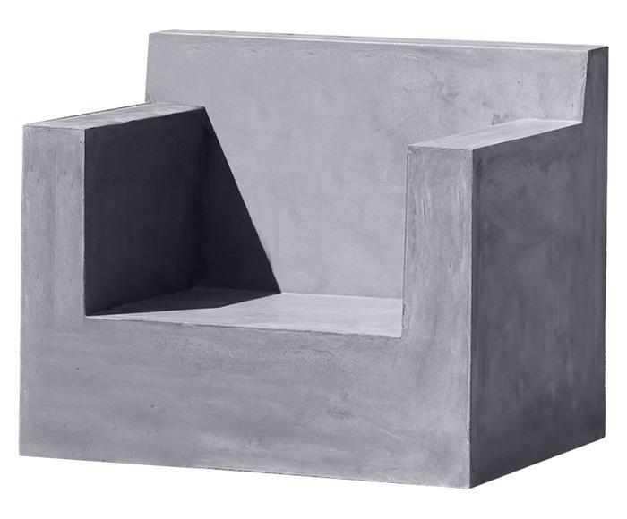Fauteuil d'extérieur ZADIE, gris - L75