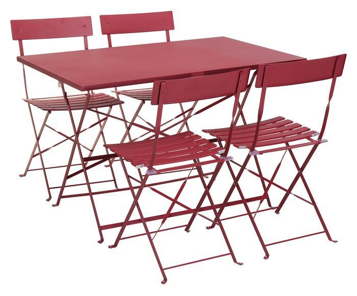 Table à manger de jardin avec 4 chaises
