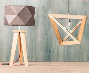 Cleane Holz-Leuchten im Scandi-Stil