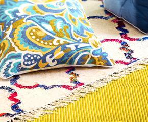 Причудливые ковры и подушки